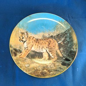 Vintage Cheetah Collectors Plate Hamilton 1989